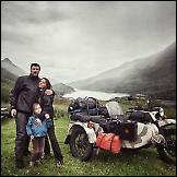 Obitelj proputovala cijelu Europu na motociklu