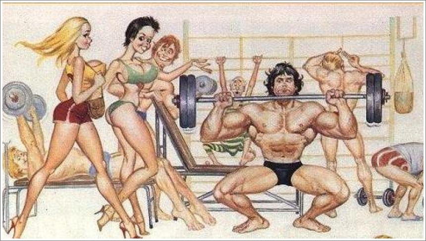 Dolly i bodybuilder
