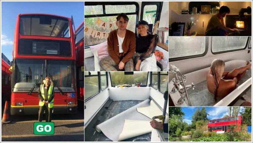 Dvospratni autobus preuređen u kuću iz snova