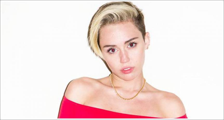 Miley Cyrus bez grudnjaka