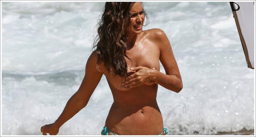 Irina Shayk - paparazzo topless fotografije