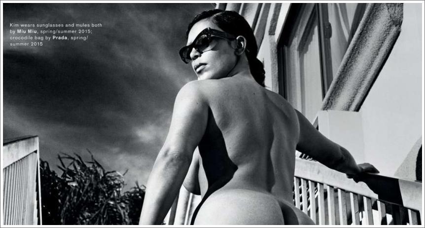 Kim Kardashian gola u magazinu Love
