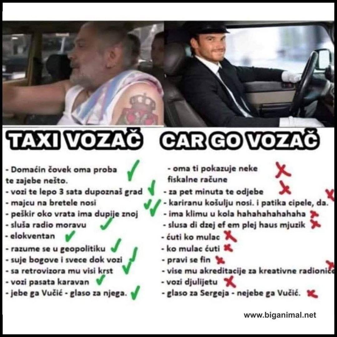 Ma nema do naših taxi vozača