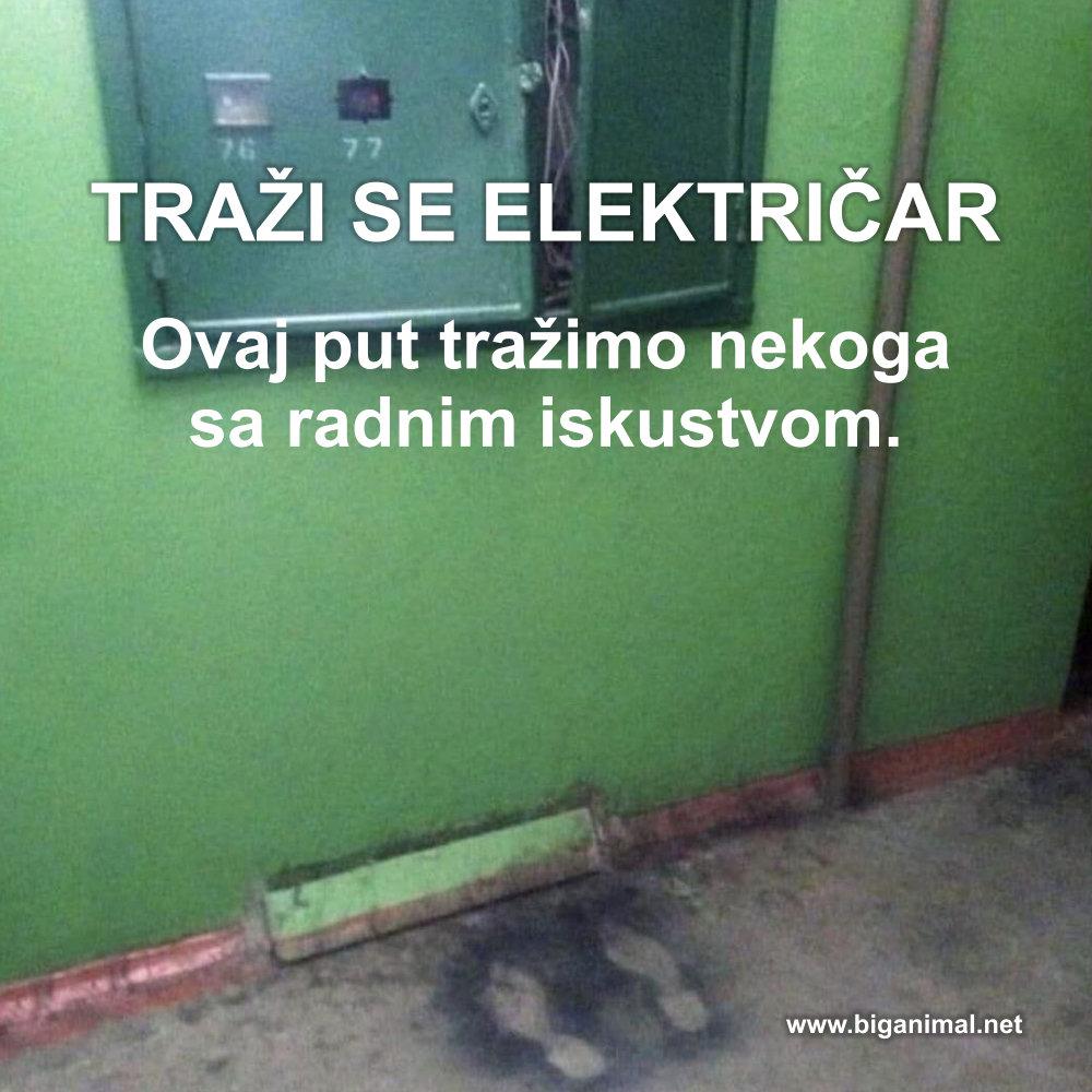 Traži se električar