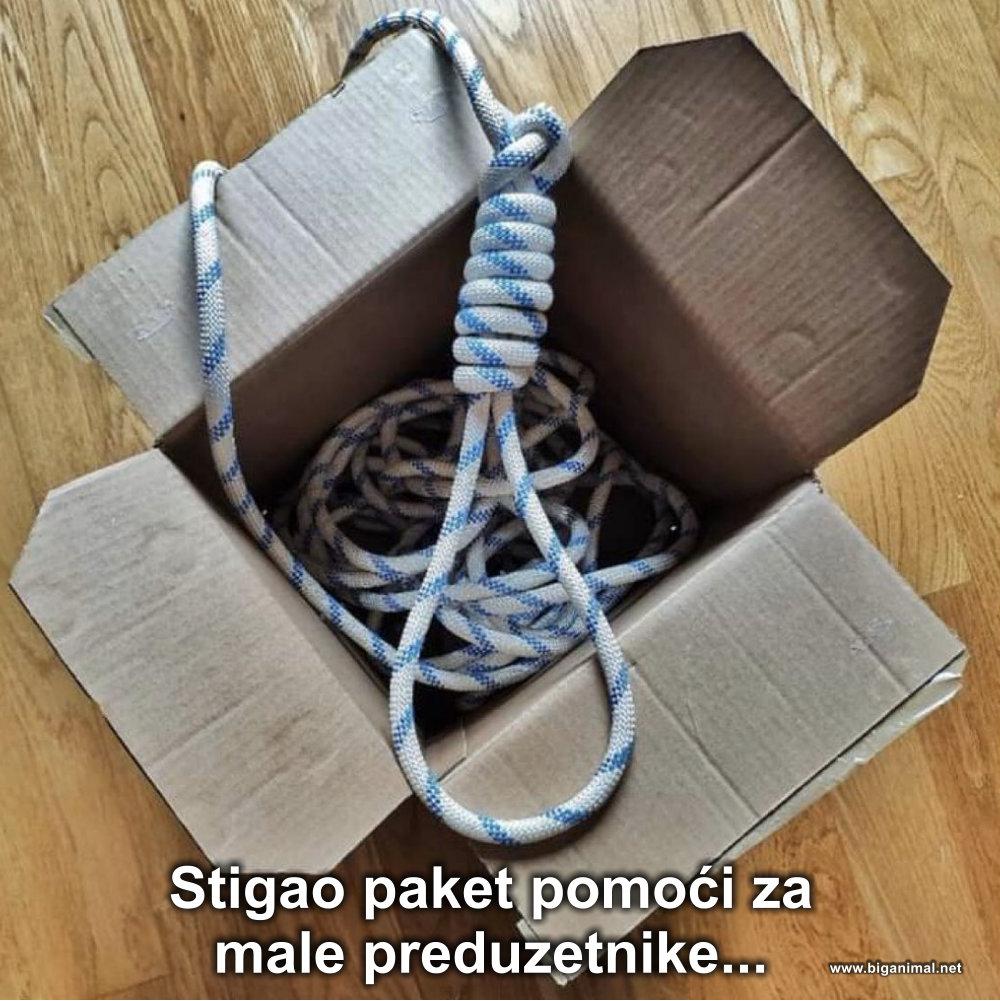 Stigao paket pomoći...