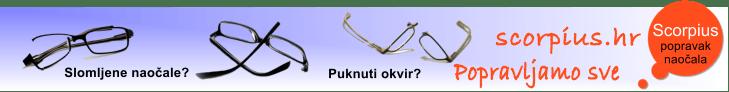 Scorpius - popravak i izrada naočala