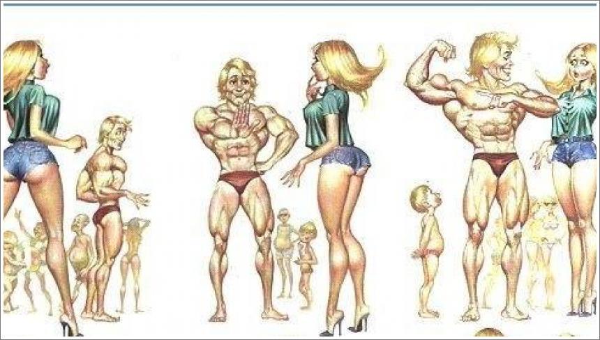 Dolly i mišićavi muškarac