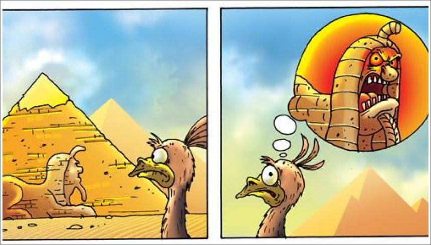 Strašljivi noj i Egipatske piramide