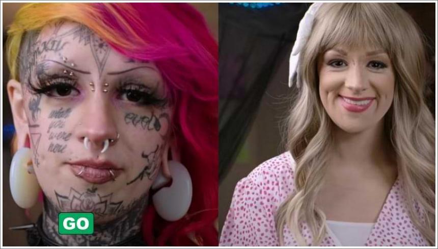 Djevojka s tetovažama pokazala je kako izgleda bez tetovaže