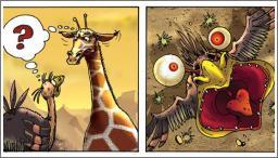 Strašljivi noj i žirafa