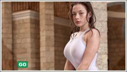 Seksi djevojke u bijelim majicama №5