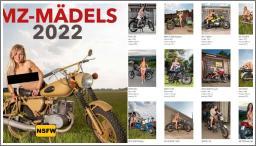 """Djevojke i motocikli u kalendaru """"MZ-Mädels 2022"""""""